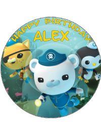 7 5 Circle Edible Octonauts Icing Or Wafer Cake Topper
